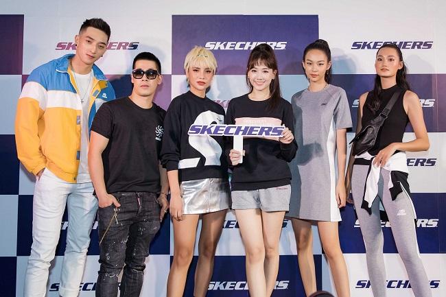 """Đỉnh cao nhan sắc: Hari Won đẹp rạng rỡ, hội ngộ dàn chân dài """"khủng"""" tại sự kiện khai trương thương hiệu giày nổi tiếng"""